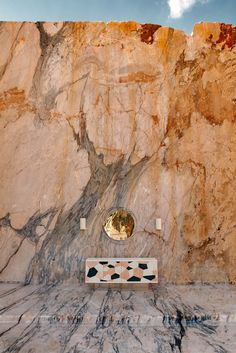 Conceptual Photo, Marble, Stone, Console, Abstract Mirror, Wall Sconce, Ginger&Jagger