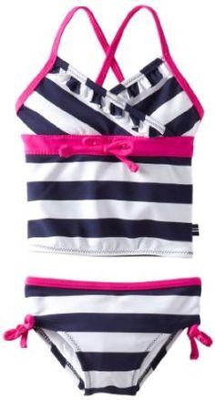 Nautica Girls 2-6X 2 Piece Tankini Swim Suit - Price: $16.99 - $17.99 [ http://shop.osx128.com/nautica-girls-2-6x-2-piece-tankini-swim-suit/ ]