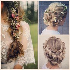 Braids! Can't get enough of them from weheartit.com #wedding #weddinghair #weddinginspiration #brudefrisyre #bryllupshår #blomster #romanticlook #bridetobe #flowercrown #braids #weddingbraid #flette #flowers #blomsterkrone #bryllupsflette #vintage #boheme #bohowedding #lace #blonder