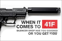 SilencerShop.com 'Powered by Silencer Shop 41F Guarantee' Makes Form 4 Processing Easy
