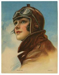 brkldrx  Vintage aviator woman / Aviadora vintage.