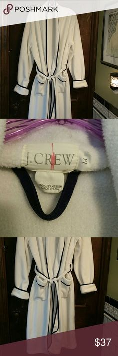 J.CREW LUXURIOUS ROBE~EUC! Thick, Plush Navy &White. Barely Worn... J. Crew Intimates & Sleepwear Robes