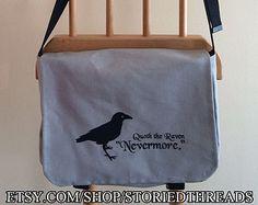 Poe Nevermore Tablet oder Netbook Messenger Bag