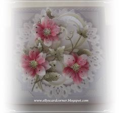 Elly´s Card- Corner Punch Out, Flower Making, I Card, Diy And Crafts, Decorative Boxes, Templates, Crystals, Corner, Flowers