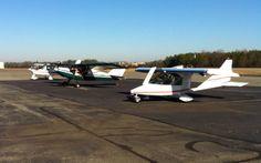 Three Sugar Hill aircraft at Hanover County, VA - Tecnam N406ES, Rans N265GB, Titan N254AK