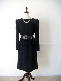 Vintage Black Dinner Semi-formal Dress