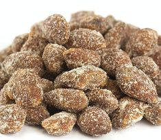 Honey Cinnamon Almonds - Pick a Size - Free Expedited Shipping! Spiced Almonds, Candied Almonds, Cinnamon Almonds, Honey And Cinnamon, Cinnamon Candy, Carob Chips, Fruit Slice, Bulk Food, Red Raspberry
