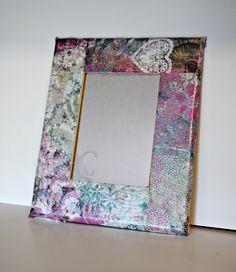 Mod Podge & Monogrammed Mirror - Kids Summer Craft Projects