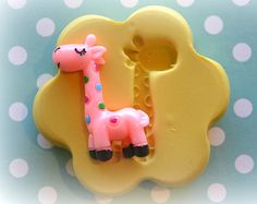 DM0117 Giraffe Kawaii Decoden Cabochon Silicone Rubber Flexible Food Safe Mold Mould- soap, wax, fondant, baby shower, cupcake topper, candy