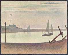 Georges-Pierre Seurat (French, 1859–1891)  The Channel at Gravelines, Evening Marine avec des ancres  Date:summer 1890