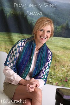 Airy crochet shawl pattern for spring/summer