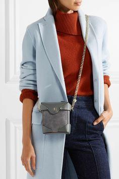 Manu Atelier | Pristine micro suede and leather shoulder bag | NET-A-PORTER.COM
