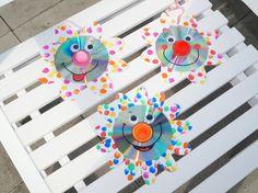 Upcycling Funkelnde CD Blumen, Basteln mit KIndern