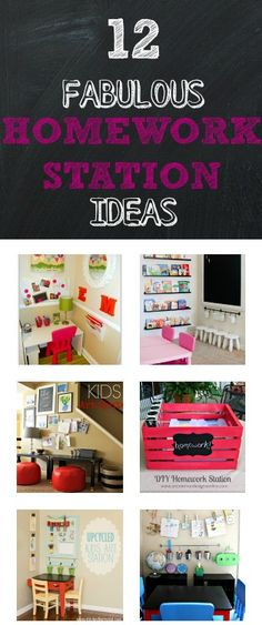 12 Home Work Station Ideas @homelifeabroad.com #backtoschool #kidsroom #school