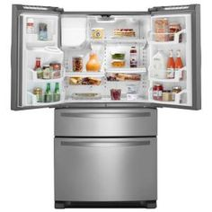 New refrigerator i want, but not sure on the size yet....Whirlpool 25.0 cu. ft. French Door Refrigerator in Monochromatic Stainless Steel-WRX735SDBM at The Home Depot