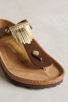 Birkenstock Gizeh Fringe Sandals - anthropologie.com