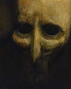 Zdzisław Beksiński, Polish Untitled, 101 x 79 cm, Historical Museum in Sanok, Poland Arte Horror, Horror Art, Art Visionnaire, Giger Art, Creepy Drawings, Macabre Art, Creepy Art, Dark Fantasy Art, Surreal Art