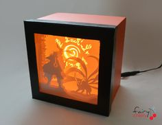Naruto shadow box with light by FairyCherry on Etsy