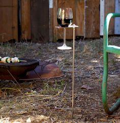 Boho Wine Glass Holder/ Garden Wine Holder. $25.00, via Etsy.