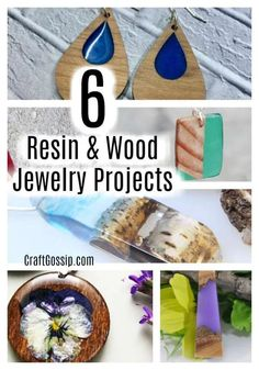 Resin Jewelry Tutorial, Resin Jewelry Making, Make Your Own Jewelry, Wood And Resin Jewelry, Mother's Day Activities, Wood Resin, Resin Art, Resin Casting, Resin Crafts