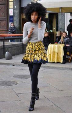 boots + tights +bright short ruffled skirt + simple top   wonderful Fashion  Fashion 9e3a30ee3c71