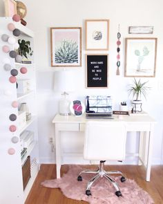 Looks like I'm about to go on an Ikea shopping spree. - Looks like I'm about to go on an Ikea shopping spree… - Home Office Space, Home Office Design, Home Office Decor, Office Ideas, Office Designs, Office Table, Home Office Bedroom, Cozy Office, Apartment Office