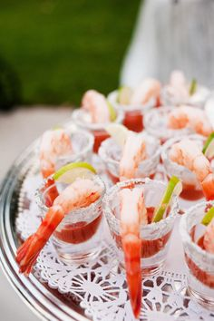 9 Portable Food Ideas That Are Perfect for Cocktail Hour | Photo by: Krakora Studios | TheKnot.com