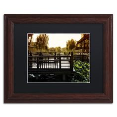 "Trademark Art ""Chinese Walk"" by Philippe Hugonnard Framed Photographic Print Size: 16"" H x 20"" W x 0.5"" D, Matte Color: Black"