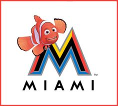 What If Disney Designed Every Sports Team's Logo? Miami Marlins This would be AWESOME!