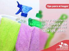 Cuídate de los gérmenes en el hogar, los trapos de cocina en ocasiones no se lavan tan frecuente como deberían.