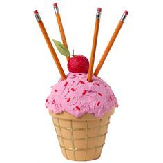 Ice Cream Pencil Holder