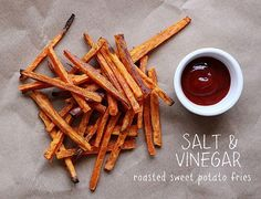 Salt and vinegar sweet potato fries. Will have to try while on the Whole Life Challenge