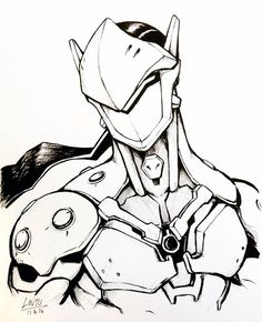 Brother on pinterest for Overwatch genji coloring pages