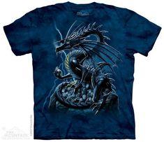 MEN TYE DYE DRAGON//CASTLE T-Shirt  Glow In The Dark Print Front /& Back