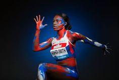 European champion, Dina Asher-Smith of Great Britain takes part. Katrina Johnson, Johnson Thompson, Dina Asher Smith, Anniversary Games, Long Jump, Track And Field, Female Athletes, World Championship, Public Relations