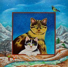 Maya Starr Bonjour la neige 20 x 20 cm