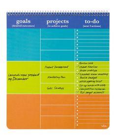 Look at this #zulilyfind! Blue & Orange Prioritizer Notebook #zulilyfinds