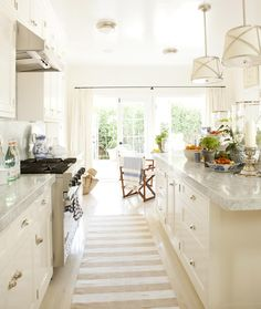 Light airy California kitchen by Mark D. Sikes.