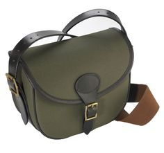 Highland Canvas and Leather Cartridge Bag Perfect Gift For Him, Gifts For Him, Brass Buckle, Saddle Bags, Shoulder Strap, Gift Ideas, Canvas, Leather, Shopping
