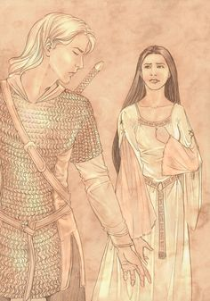 Aegnor and Andreth by Gold-Seven. Aegnor fell in love with a mortal woman called Andreth, long before Beren and Lúthien, or Tuor and Idril. They never married, because they both did not want to enter a relationship in which he would have to watch her grow old and die.
