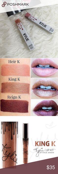 Choice Of Kylie Jenner Metal Matte Lipsticks Choice of Kylie Jenner metal matte lipsticks. Choose King K or Reign. Price firm. No trades. Kylie Cosmetics Makeup Lipstick
