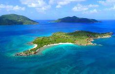 Aerial view of the British Virgin Islands - BVI. Photo by Daniel Mejia