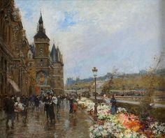 Stein, Georges 1870 Paris - 1955 Paris Quai aux Fleurs, Paris. Signiert. Öl/Lwd./doubl., 46 x 55