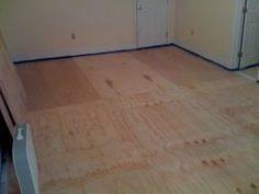 Cheap flooring DIY idea using ply wood cut the same width ...