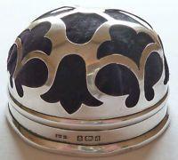 Hallmarked Solid Silver Pin Cushion Hat Pin Stand ES Barnsley 1903