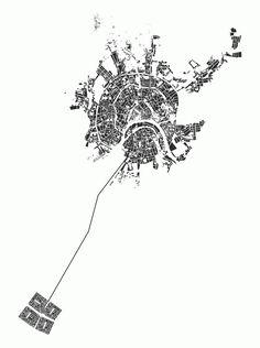 Bilderesultat for eva le roi Plans Architecture, Architecture Graphics, Architecture Drawings, Landscape Diagram, Landscape And Urbanism, Drawing Sites, Interior Design Presentation, Urban Analysis, Map Design