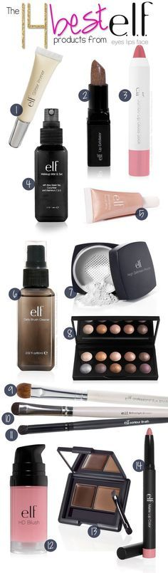 Best elf products, 8 is baked shadows, 13 is brow kit