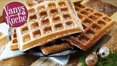 Lebkuchenwaffeln - Thermomix® - Rezept von Vanys Küche Tolle Desserts, Waffles, Breakfast, Advent, Youtube, Kitchens, Gingerbread, Finger Foods, Chocolate Candies