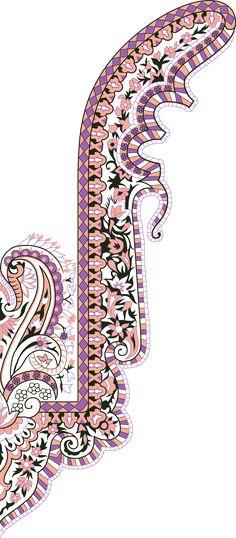 Baroque Design, Baroque Pattern, Pattern Art, Textiles, Textile Prints, Textile Design, Motif Design, Boarder Designs, Border Embroidery Designs