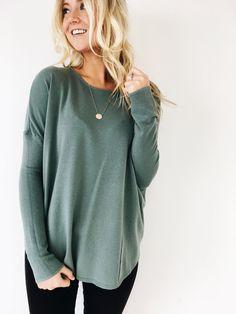 Sweet Cream Sweater in Seafoam | ROOLEE